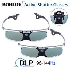 2pcs RX-30 3D DLP-Link 96-144Hz Active Shutter Glasses Fr BenQ Optoma Mitsubishi