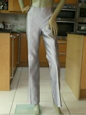 *KAREN MILLEN* Ladies Pale Lilac PURE SILK TAILORED TROUSERS uk10 EC rrp£159