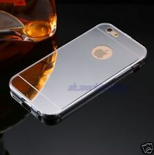ALUMINIUM BUMPER METAL CHROME MIRROR BACK COVER CASE + GLASS APPLE IPHONE 7 IPOD