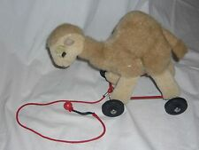 "11"" Pull Toy Merrythought Camel On Wheels Plush Animal *7*"