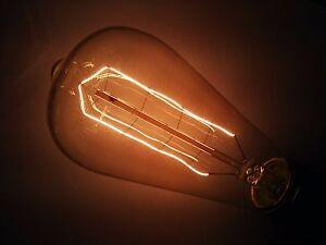 Simple Vintage ST64 Edison Light Bulb E26 40W 120V Retro Amber Tinted 9 Anchors