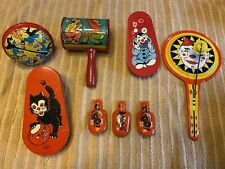 Vintage Toy Noise Makers-Clickers-Halloween-Clowns-T.Conn