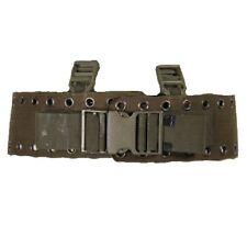 VERDE Oliva Esercito Militare Tedesco ampia rivettato caricare trasportare Cinghia Nylon Metallo Cintura Punk