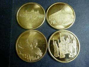 """USA 4 Medals- Tokens """"Statue of Liberty Birthday Dollar.1886-1886"""""""