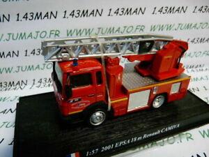 PDP21 1/57 DEL PRADO Pompiers du Monde : 2001 EPSA 18 m Renault CAMIVA