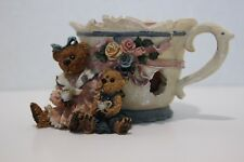 Boyds Bears & Friends - Ms. Bruin & Bailey Tea Time (Candle Holder)