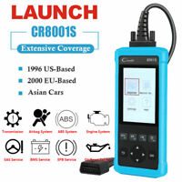 LAUNCH CR8001S OBDII OBD2 Auto Car Code Reader Scanner Oil Reset ABS SRS EPB