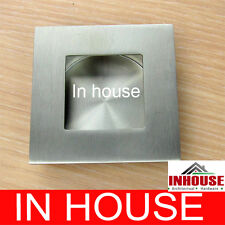 Square Stainless steel Flush pull-Satin(65x65mm)