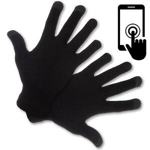 Mens Womens Gloves Touch Screen Finger Winter Warm Thermal Full Stretch Knitted