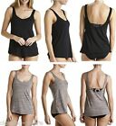 BONDS LADIES WOMENS SUPPORT BRA TANK TOP TEE SINGLET BLACK GREY TSHIRT SINGLETS