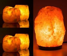 1x 3-5kg Himalayan Salt Lamp with 4x Natural Himalayan Salt t light holders