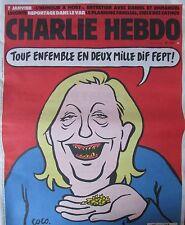 CHARLIE HEBDO No 1221 de DECEMBRE 2015 MARINE LE PEN TOUS ENSEMBLE EN 2017