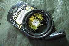 Candado Master Lock Street Quantum 1800x8mm llave cable Autoenrollable negro