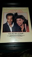 Natalie Cole Peabo Bryson We're The Best Of Friends Rare Promo Poster AdFramed!