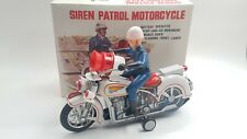 Tin Toy MODERN TOYS  Siren Patrol Motorcycle  -Original box - Working