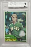 💎1981-82 Larry Bird TOPPS SOLO ROOKIE #4 BGS 9 🔥ONLY 7 GRADED ^ PSA fleer star