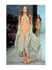 ETRO Silk Vibrant Green Paisley Ribbon Skirt (retail £650)