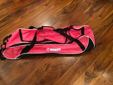 New Worth Rolling Softball/Baseball Bat Bag, Pink