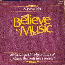 "Various Artists: Believe in Music 30 Original Hit Recordings 12"" Double Vinyl LP"