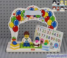 LEGO - Birthday Set w/ Boy Minifigure & Presents Cake Topper Table Centerpiece