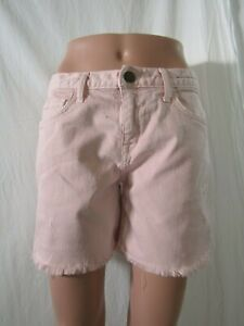 NEW Current Elliot The Rolled Pink Frayed Boyfriend Short Size 25