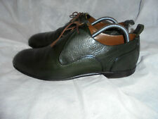 BURBERRY MEN'S GREEN LEATHER LACE UP ELEGANT SHOES  SIZE UK 8F EU 42 VGC