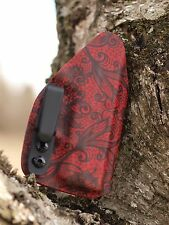Kydex IWB holster for Springfield XDS 3.3 - Black Lace on Red - InvisiHolsters