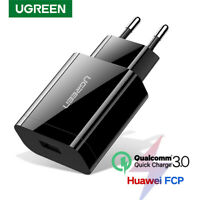 Ugreen 18W USB Phone Charger QC 3.0 Fast PD Charge Fr Huawei Samsung S9 S8 Note9