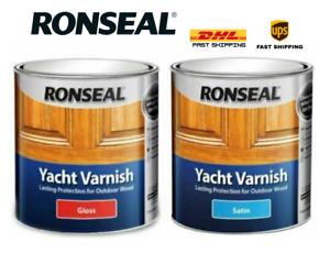 Ronseal Exterior Long Lasting Yacht Varnish / Satin / Gloss All Sizes