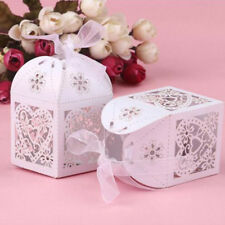 Heart Cake Candy Gift Box with Ribbon Wedding Favor Baby Shower Boxes YU