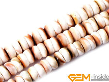 6x12mm Natural Sea Shell MOP Rondelle Spacer Beads For Jewelry Making Strand 15""
