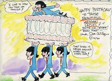 SATURDAY MORNING BEATLES John Paul George Ringo FAB WATERCOLOR CEL DRAWING 1965