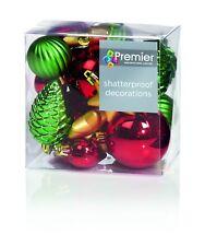 Décorations Arbre de Noël Paquet de 20 Arbre Boules Rouge Vert et or Pack Mixé