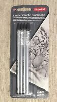 Derwent 4 Watersoluble Graphitone Solid Water Soluble Graphite Art Pencils