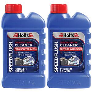 2 x Holts SPEEDFLUSH Cooling Radiator System Fluid Car Flush Cleaner 250ml