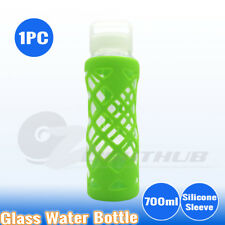 1x Glass Office Water Bottle Sport Outdoor Hydration Camping kettle cup BPA Free