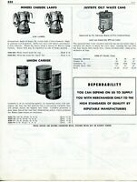 1958 Print Ad of Union Carbide Carbolite, Miners Lamps, Justrite Oily Waste Cans