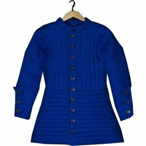 Medieval-Gambeson-thick-padded-coat-Aketon-vest-Jacket-Armor-Best-Halloween-Gift