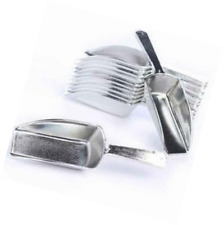 Metallic Silver Hard Acrylic Candy Buffet Scoops - Package of 12 for Weddin