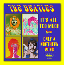 THE BEATLES  IT'S ALL TOO MUCH 45 SLEEVE FOR COLORED VINYL SERIES
