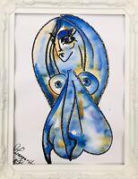 Margarita Bonke ORIGINAL Malerei PAINTING abstract abstrakt erotic EROTIK akt nu