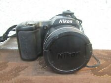 Nikon COOLPIX L100 10.0MP 15x Optical Zoom Digital Camera Black w/ Case  MH