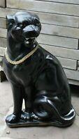 Panther Jaguar Figur Tierfigur Skulptur Raubkatze Katze Raubtier Groß Schwarz