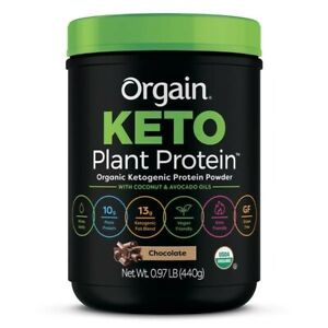 Orgain -Plant Based Keto Collagen,Protein Powder with MCT Oil 1lb chocolate 3/22