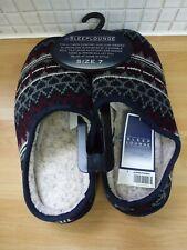 BHS para hombre dormir Lounge Backless textil Resbalón en Zapatillas Tamaño 7/41 Bnwt Azul Mix