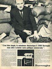 A- Publicité Advertising 1966 La Machine à calculer Burroughs Mr Lanvin chocolat