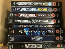 x 8 WWF WWE WCW - DVD / Blu Ray Bundle WRESTLEMANIA COLLECTION 2004 - 2012