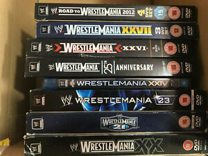 x 8 WWF WWE WCW - DVD / Blu Ray Bundle WRESTLEMANIA COLLECTION 2004 - 2012