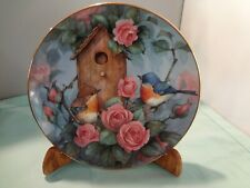 "Franklin Mint Royal Doulton ""Settling In"" Blue Bird Collector Plate - 8"" -"