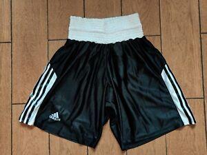 Shorts Adidas Boxing Fightshorts Men jersey Muay Thai Black Kickboxing Size XS